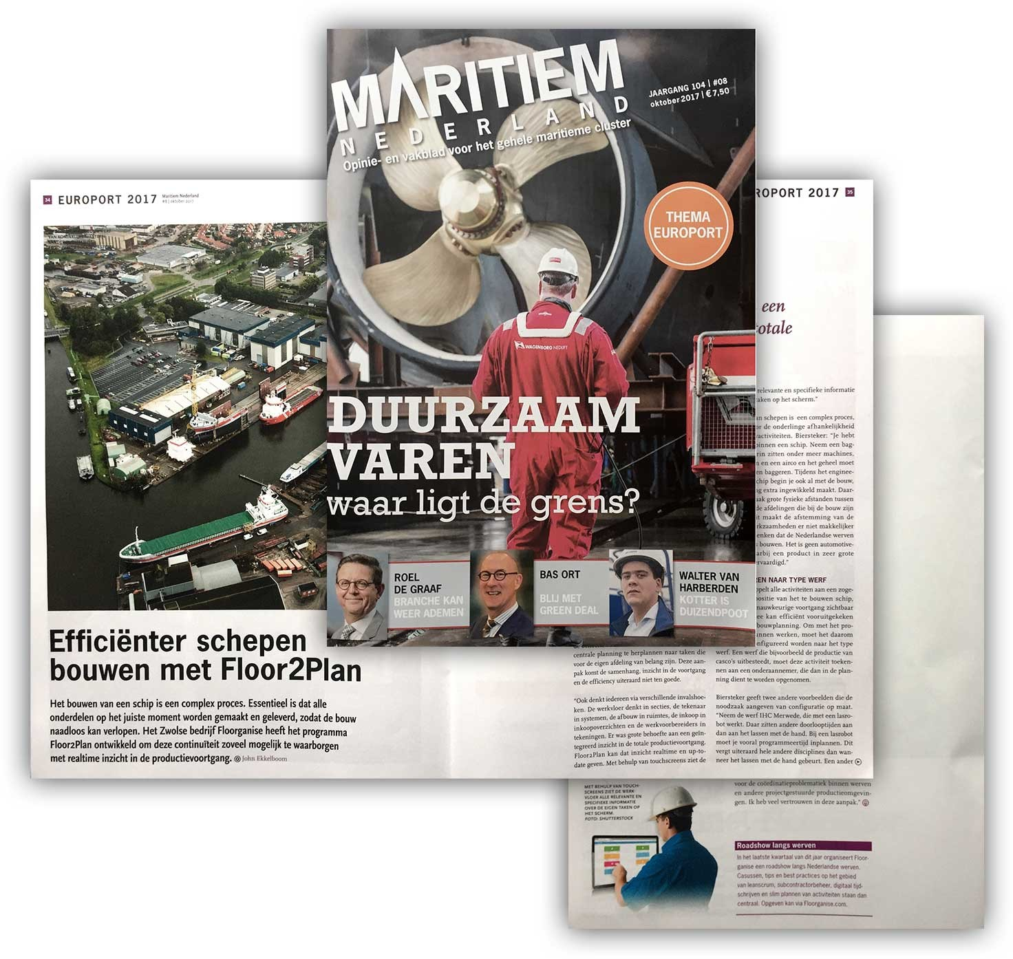 (Dutch) Interview in Maritime Nederland: Increase efficiency in shipbuilding with Floorganise